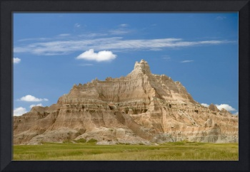 Colorful Hill In Badlands National Park South Dak