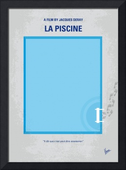 No137 My La piscine minimal movie poster