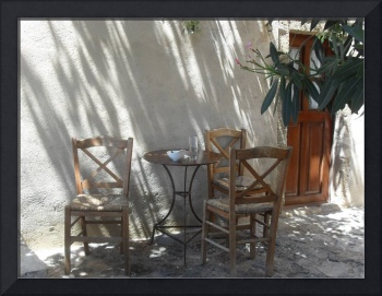 Chairs in shadow