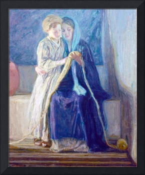 Henry Ossawa Tanner Christ and His Mother Studying