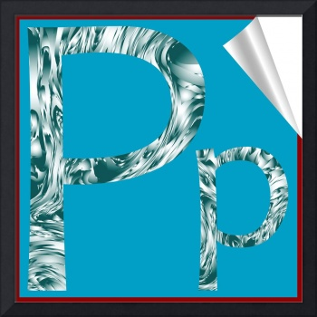 alphabet letter P sticker