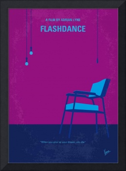 No1002 My flashdance minimal movie poster
