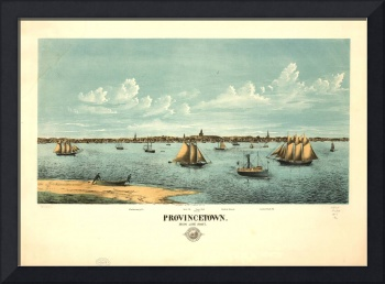 1877 Provincetown, MA Birds Eye Panoramic Map
