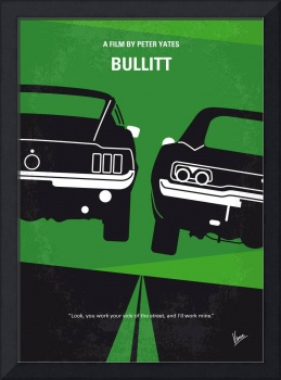 No214 My BULLITT minimal movie poster