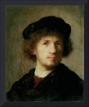 Self Portrait, 1630 (oil on copper) by Rembrandt
