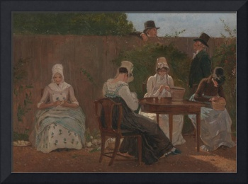 Jacques-Laurent Agasse~The Chalon Family in London