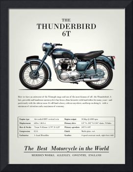 The Thunderbird 6T Vintage Advert 1955