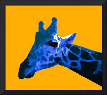 Giraffe in Yellow World