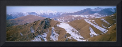 Panoramic view of mountain ranges