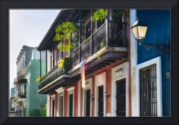 Old San Juan Street in Atmospheric Light