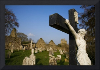 Historic Churchyard With Crucifix, Kilcash, County