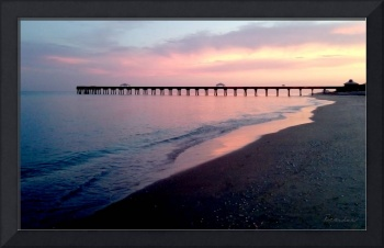 Seascape Juno Beach Pier Sunset C1