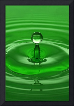 Green Water Drop