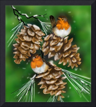 Robins and Pinecones