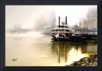 Steamboat Natchez in Fog