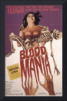 CULT HORROR MOVIE POSTER BLOOD MANIA