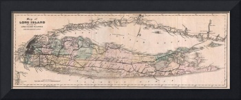 Vintage Long Island NY Railroad Map (1882)