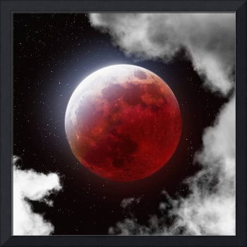 Blood Moon with Clouds