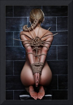 Nude Bound Waiting - Fine Art of Bondage