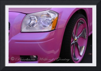 Closer Look of a Pink Dodge