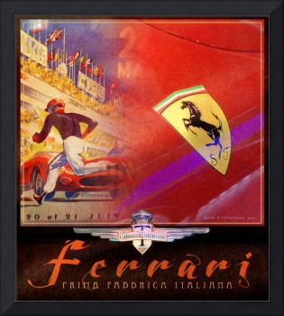 ferrari collage poster