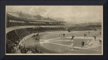 Vintage Illustration of a Baseball Game (1894)