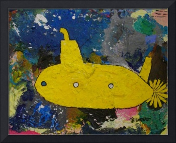 The Yellow Submarine with Blue Window