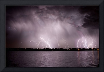 Lightning Striking at the Lake