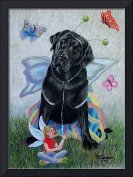 Butterfly and Fairy on Canvas