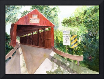 Historic Covered Bridge in the Pennsylvania back c