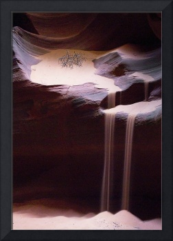 Sandfall in Antelope Canyon