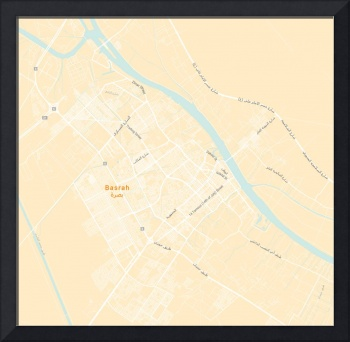 Minimalist Modern Map of Basrah, Iraq 4