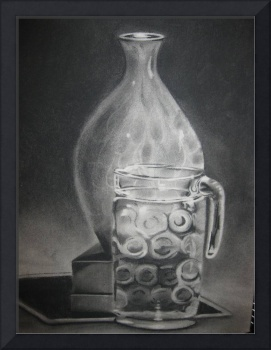 Charcoal, Still Life Transparency