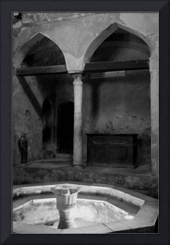 Wood Beams in Archways bw