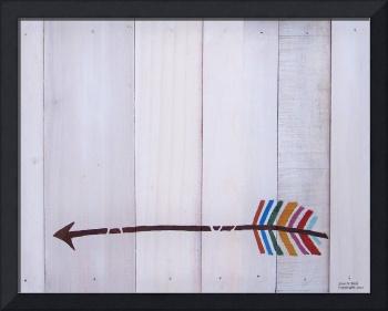 Reclaimed Wood Arrow Painting