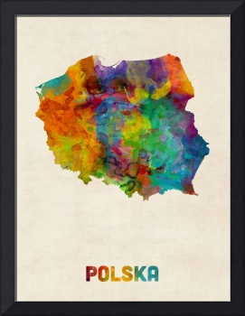Poland Watercolor Map