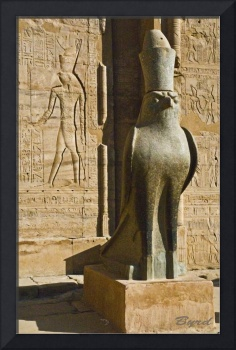 Statue of the Egyptian god Horus