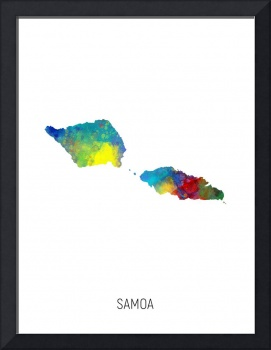 Samoa Watercolor Map