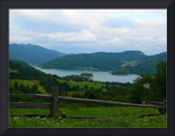 Lake Zaovine, Tara mountain Serbia -original photo