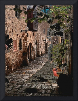 Old City cobbled street