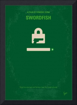 No804 My SWORDFISH minimal movie poster