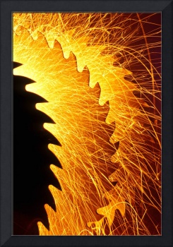 Saw blades with sparks