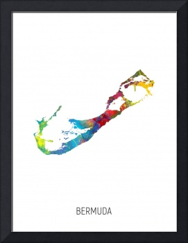 Bermuda Watercolor Map