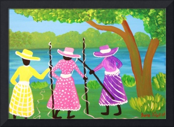 Gullah girls out for fish