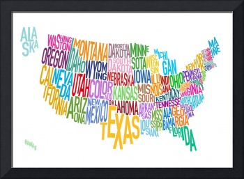 United States Text Map