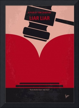 No737 My Liar Liar minimal movie poster