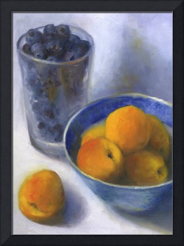 Apricots and a Pint of Blueberries