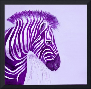 Zebra Purple Popart