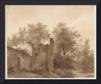 Ruin in a landscape, Andreas Schelfhout, 1797 - 18