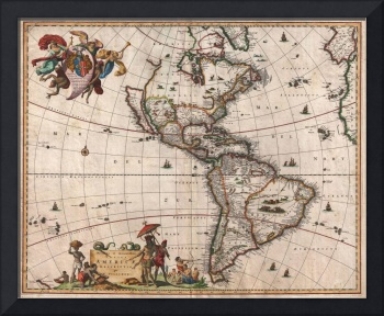 Map of North America & South America by Visscher